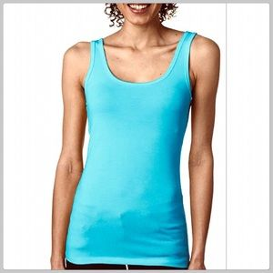 Cute J. Crew Turquoise Blue Boyfriend Tank Top